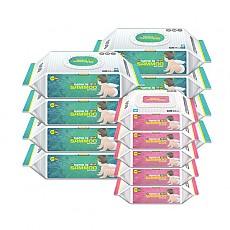 삼무 프리미엄 캡형 플레인 물티슈 74매 x 8팩 + 삼무 프리미엄 휴대용 20매 x 5팩
